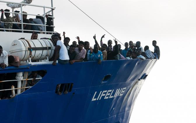 Saksa MTÜ abilaev Lifeline Vahemerel 21. juunil.