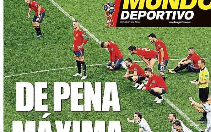 Esmaspäevase Mundo Deportivo esikaas