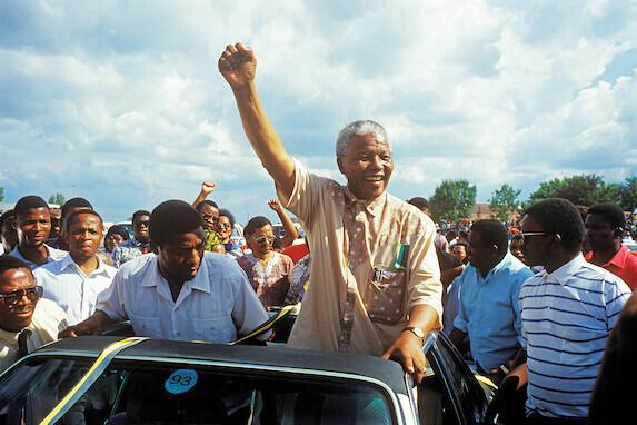 Juhan Kuuse tehtud foto Nelson Mandelast.
