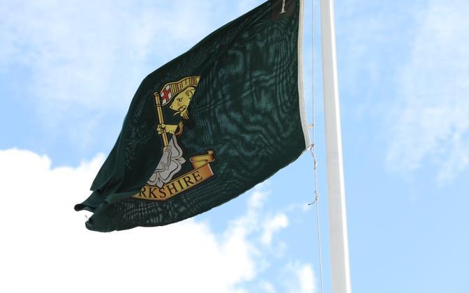 Flag of The Yorkshire Regiment regimental colours.