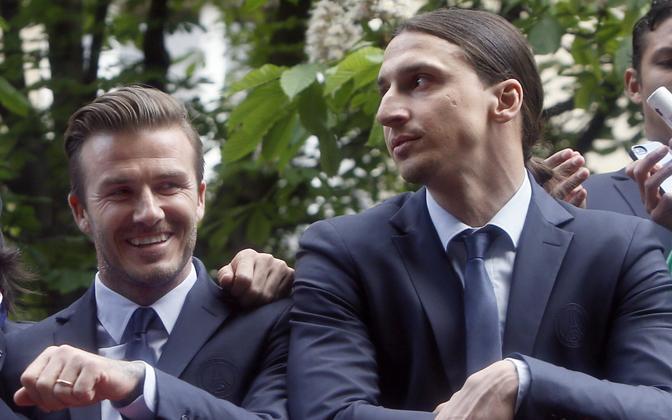 David Beckham ja Zlatan Ibrahimovic