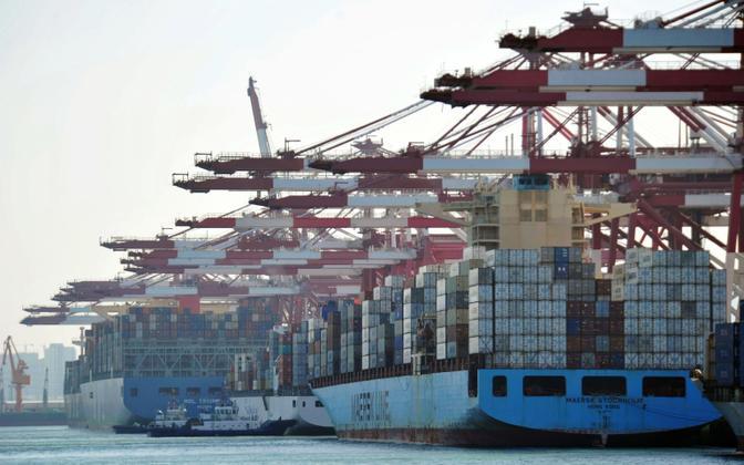 Kaubakonteinerid Hiinas Qingdao sadamas.