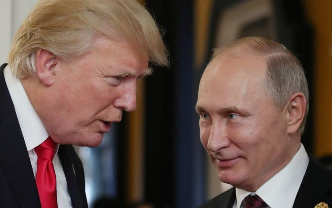 Trump ja Putin eelmise aasta novembris APEC-i kohtumisel Vietnamis.