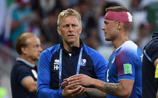Heimir Hallgrimsson ja Ragnar Sigurdsson jalgpalli MM-il