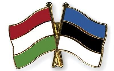 Estonian and Hungarian flags.