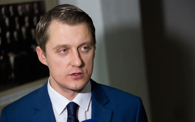 Lithuanian Minister of Energy Žygimantas Vaičiūnas.