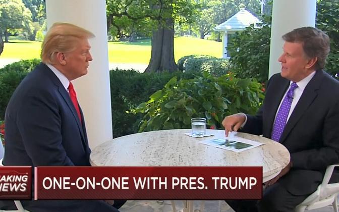 USA president Donald Trump CNBC-s.
