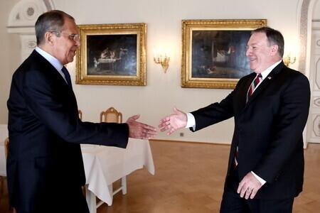 Lavrov ja Pompeo 16. juulil Helsingis.