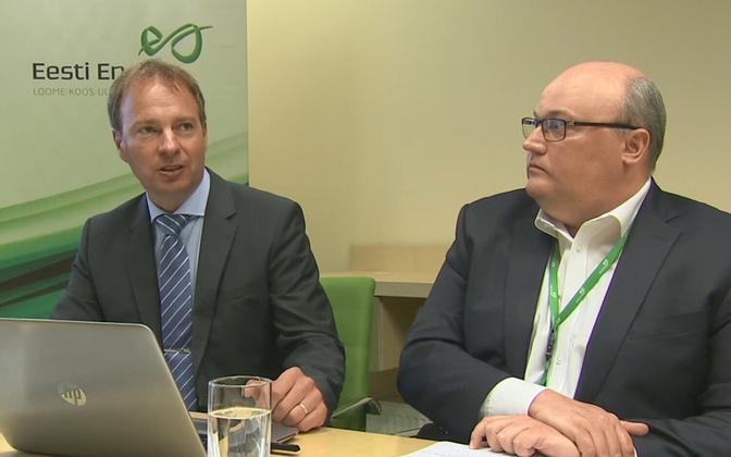 Eesti Energia CEO Hando Sutter and CFO Andri Avila.