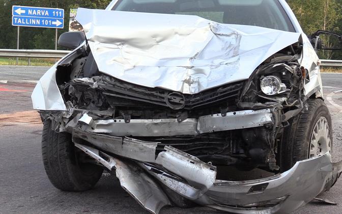Vehicle involved in a fatal car crash in Sõmeru, Lääne-Viru County.