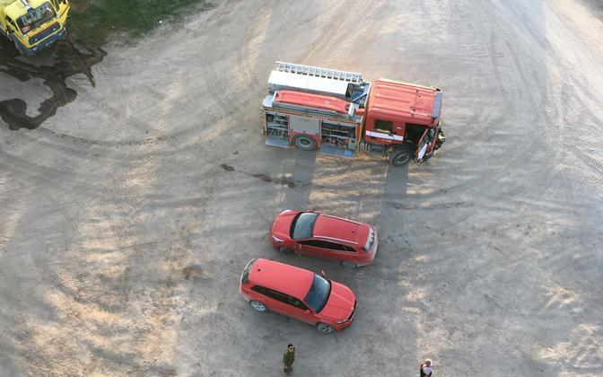 Пожарные машины.