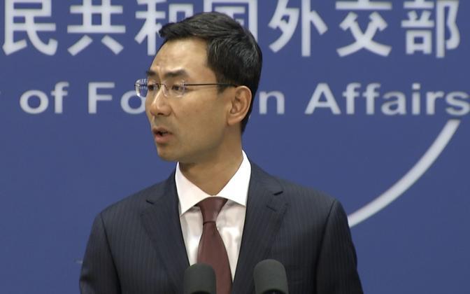 Hiina välisministeeriumi pressiesindaja Geng Shuang.