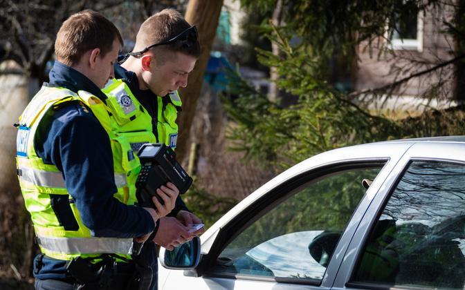 A police speed patrol in Estonia.