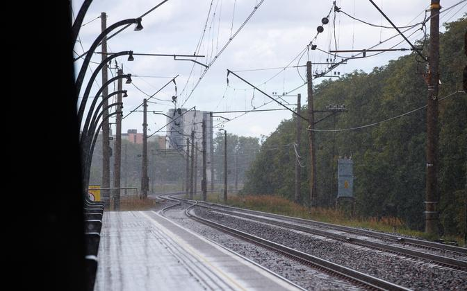 Railway line in Tallinn (picture is illustrative).