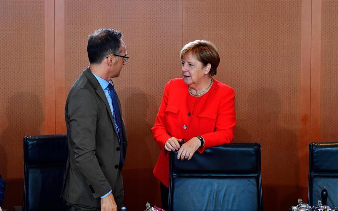 Välisminister Heiko Maas (SPD) ja liidukantsler Angela Merkel (CDU).