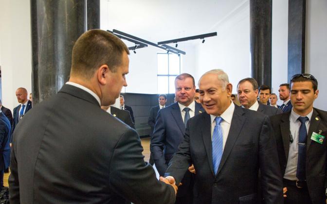 Ratas and Netanyahu in Vilnius, 24 August 2018.