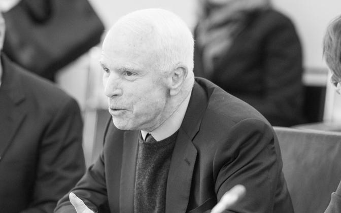 Senator John McCain during his last visit to Estonia in December 2016.