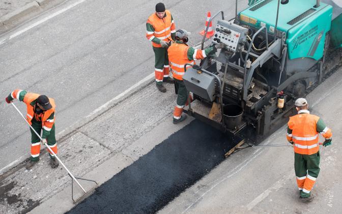 Roadwork in Tallinn.