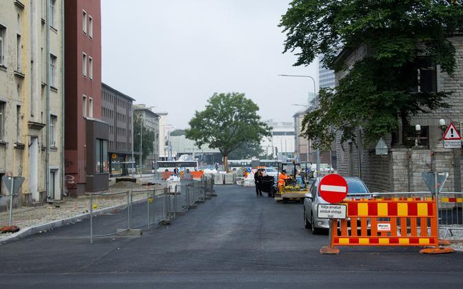 Gonsiori tänava remont Tallinnas