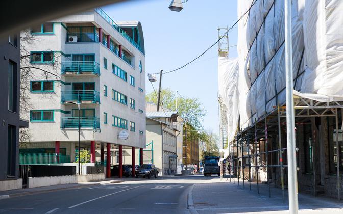New blocks of flats being built in Tallinn.