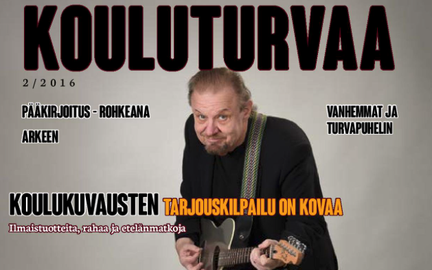 Cover of an issue of Kouluturvaa from 2016.