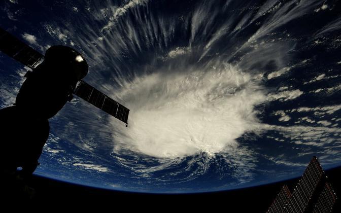 Astronaut Ricky Arnold tegi rahvusvahelisest kosmosekeskusest foto orkaan Florence'ist, kui see oli Atlandi ookeanil 6. septembril