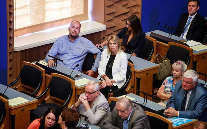 MPs in the Session Hall of the Riigikogu.