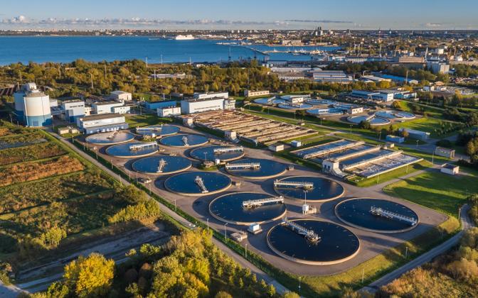 Paljassaare waste water treatment plant in North Tallinn.