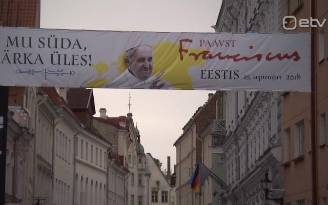 Pope Francis will visit Estonia  on 25 September 2018.