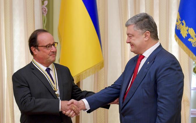 François Hollande ja Petro Porošenko 1. oktoobril Kiievis.