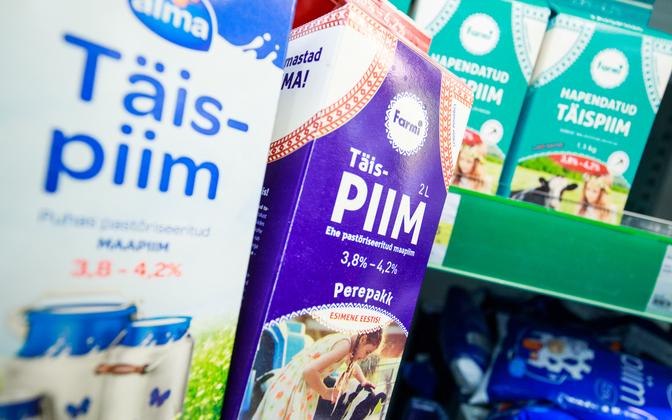 Estonian milk and dairy products.