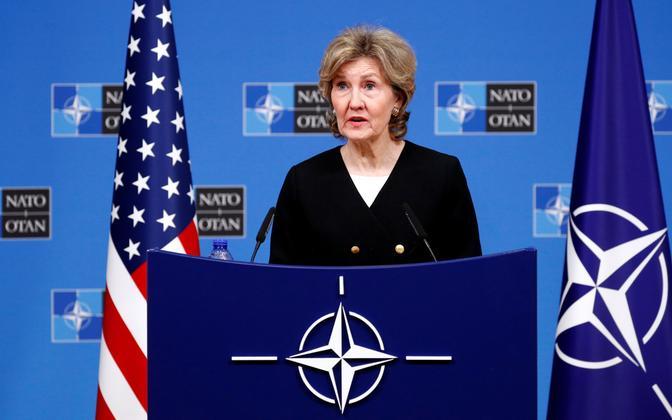 USA alaline esindaja NATO juures Kay Bailey Hutchison 2. oktoobril Brüsselis.