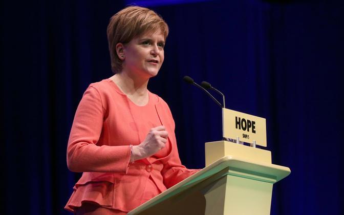 SNP juht Nicola Sturgeon.