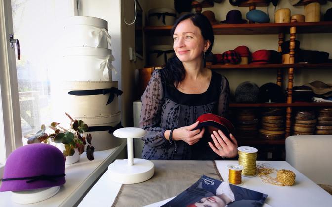 Erle, the owner of Ardiisia, in her studio in Tartu. 12 October 2018.