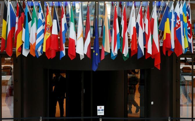 Флаги стран ЕС.