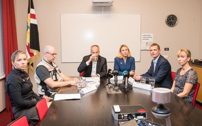 A press conference regarding the deadly gas leak in Tallinn's Kakumäe neighbourhood was held on Sunday night. 14 October 2018.
