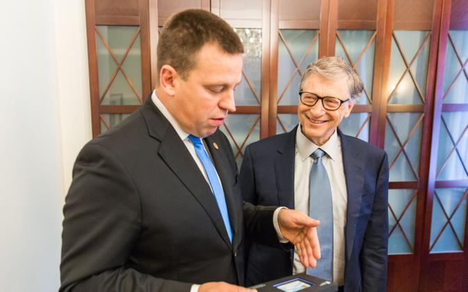 Jüri Ratas and Bill Gates, 18 October 2018.