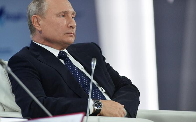 Venemaa president Vladimir Putin Sotšis Valdai foorumil.