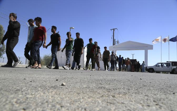 Süüriast saabunud migrandid Küprosel.