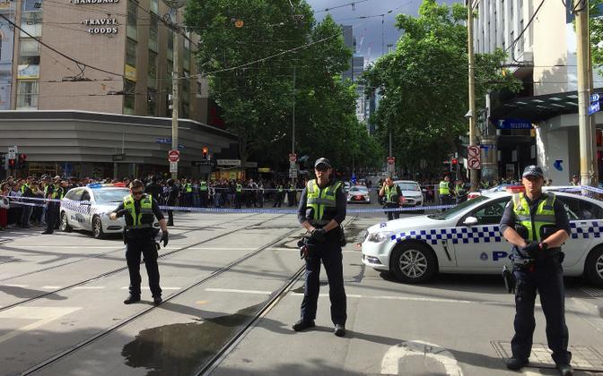 Politsei Melbourne'i kesklinnas