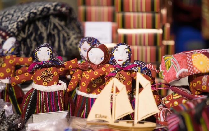 Handicraft sold at the 2018 St. Martin's Day Fair in Tallinn.