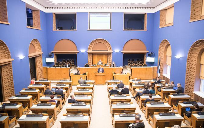 A sitting of the Riigikogu.