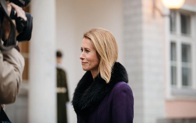 Reform chairwoman Kaja Kallas at Kadriorg on Tuesday morning. 20 November 2018.