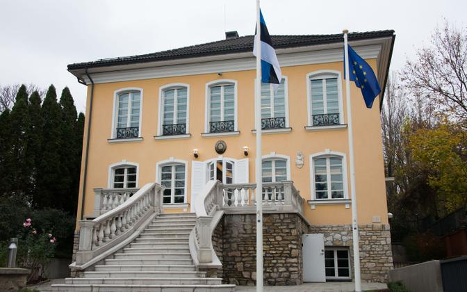 The newly reopened Estonian Embassy in Budapest. 23 November 2018.