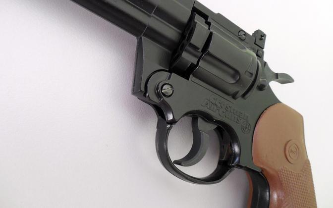 Пневматический пистолет. Иллюстративная фотография.