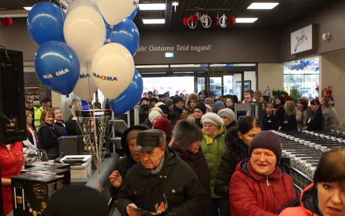 At the opening of a supermarket. Image is illustrative.