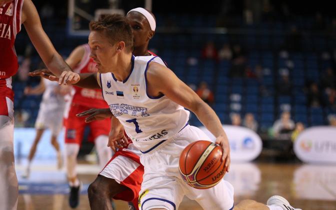 Sten Sokk mängus Gruusia vastu