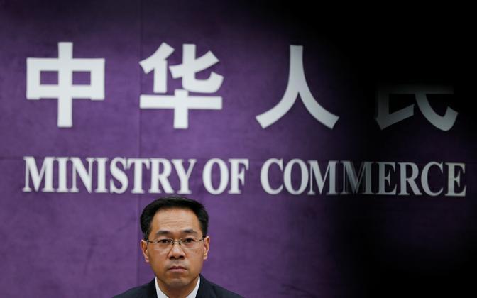 Hiina kaubandusministeeriumi pressiesindaja Gao Feng.