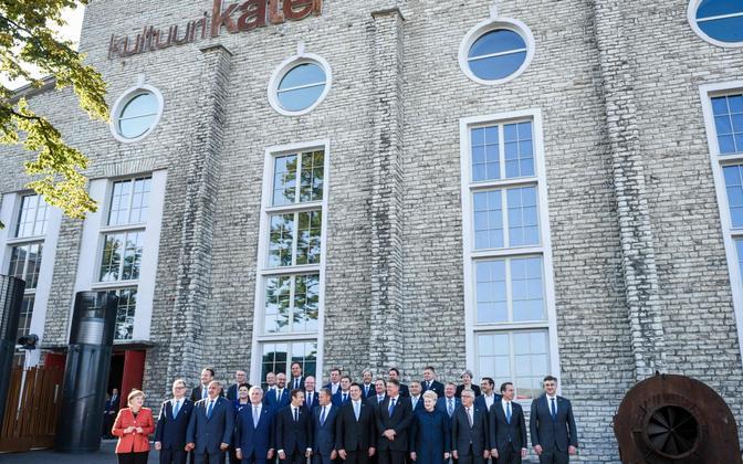 Euroopa Liidu riigijuhid 2017. aasta septembris Tallinnas.