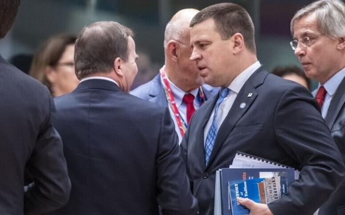 Prime Minister Jüri Ratas (Centre) at the second day of the European Council in Brussels on Friday. 14 December 2018.